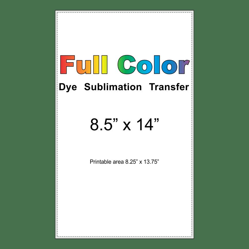 dye sublimation transfer 8.5x14